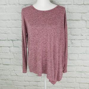 3/$45 Hannah Long Sleeve Tee w/ Asymmetrical Hem